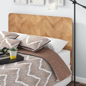 Tăblie pat Chrisley, lemn masiv, 66cm H x 185cm W x 4.8cm D
