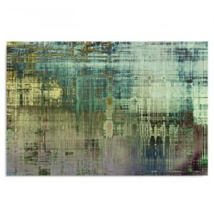 """Tablou """"Abstract 1"""", verde/albastru/maro, 80 x 60 cm"""