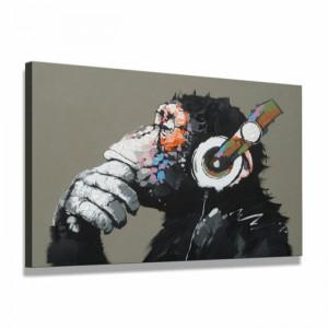 """Tablou """"Maimuță cu căști"""", 61 x 80 x 2 cm"""