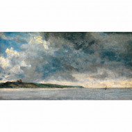 Tablou Coastal Scene with Cliffs by John Constable, 50.6 cm H x 100 cm W x 3.8 cm D