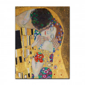 Tablou Gustav Klimt, auriu, 80 x 60 x 2 cm