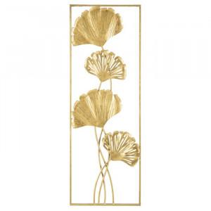 Tablou Iris, metal, auriu, 90 x 31 cm