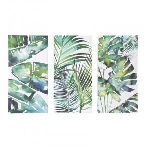 Tablou multiplu Seră Botanică pe pânză, 100cm H x 150cm W x 4cm D