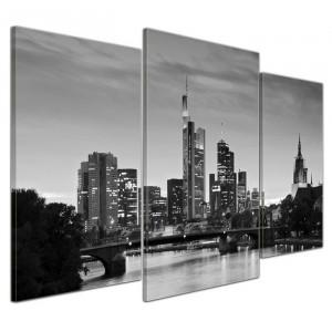 Tablou pe panza Frankfurt, din 3 piese, 60 x 100 x 2 cm