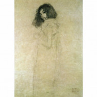 Tablou 'Portrait of a Young Woman' by Gustav Klimt, 30 x 40 cm