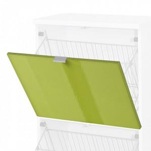 Usa de dulap Colorado MDF/aluminiu, verde lucios, 52 x 41.5 x 1.6 cm
