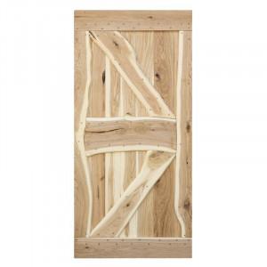Usa glisanta Miltona, lemn masiv, maro, 100 x 210 x 40 cm