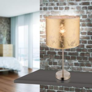 Veioza Amy I, metal/tesatura, aurie, 26 x 50 cm