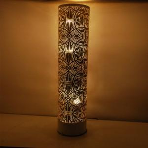 Veioza Chau din metal, alb, 66 x 20 cm