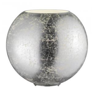 Veioza Cranford, metal/sticla, argintie, 27,5 x 28 x 28 cm, 60w
