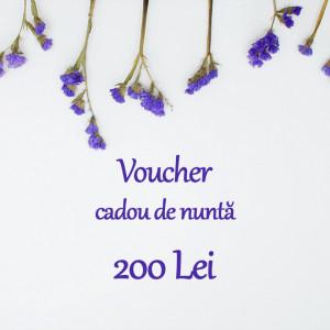 Voucher cadou nunta 200 Lei