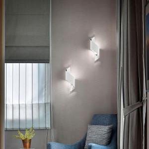 Aplica LED Fanes otel, argintiu, 13 x 36 x 8 cm, 1 bec, 230 V, 720 lm