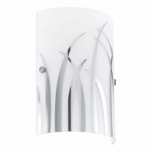 Aplica Rivato sticla/otel, alb, 1 bec, 230 V