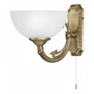 Aplica Savoy sticla / otel, 1 bec, alb, 240 V