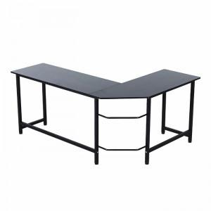 Birou executiv, metal, negru, 168 x 120 cm