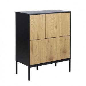Bufet Grayone, lemn masiv, 103 x 80 x 40 cm