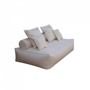 Canapea de 2 persoane tip divan Panama Class by Filippo Ghezzani, piele sintetica, bej