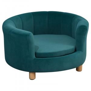 Canapea pentru caini Grimsby, verde, 37 x 65 x 65 cm