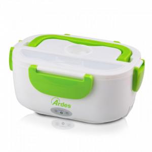 Caserola electrica pentru incalzirea pranzului Ardes AR1K01G, alb/verde, 24 x 11 x 17,5 cm