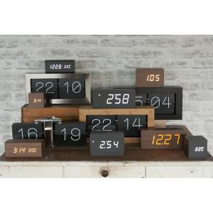 Ceas de birou, negru, 9 x 21 x 4,5 cm