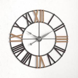 Ceas de perete Whipe XXL, gri/maro, 120 x 120 cm
