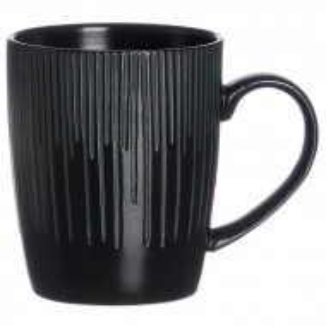 Ceasca de cafea Saporo, portelan, neagra, 10 x 9 cm