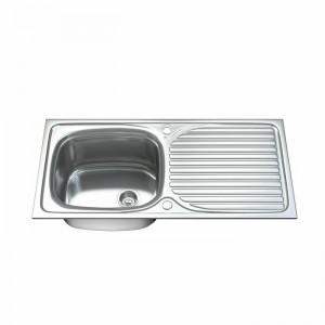 Chiuvetă de bucătărie, otel inoxidabil, 100 x 50 cm
