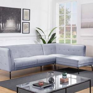 Coltar Atlantic Home Affaire, 270 x 80 x 80 cm, catifea, gri deschis