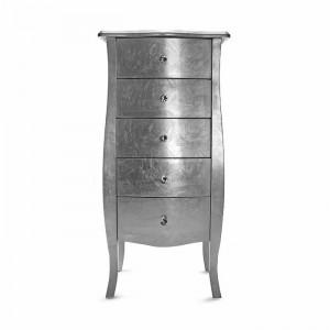 Comoda Braeden, argintiu, 100 x 48 x 36 cm