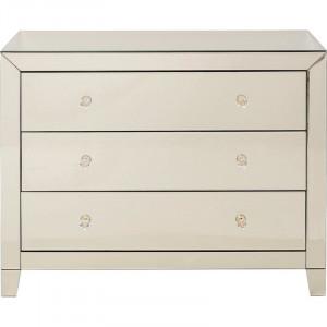 Comoda Luxury, lemn masiv, alb, 73,5 x 91 x 41 cm