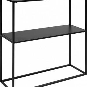 Comodă Newton din metal, negru, 80x80