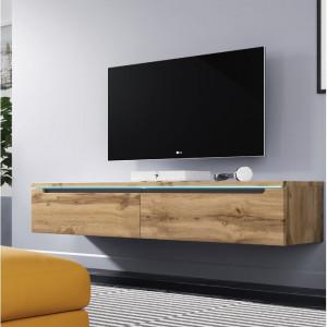 Comoda TV Shively, maro, 140 x 24 x 33 cm