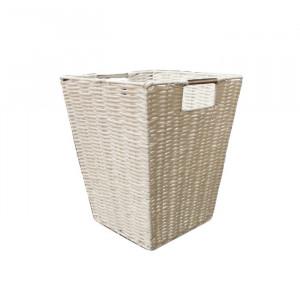 Cos de gunoi pentru hartie, plastic, alb, 30 x 24 x 25 cm