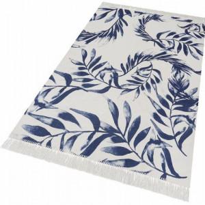 """Covor """"Frunze albastre"""" GMK Home&Living, alb/albastru, 120 x 180 cm"""