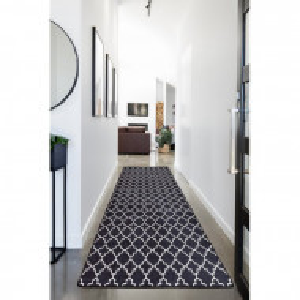 Covor Arleen, negru/alb, 80 x 300 cm