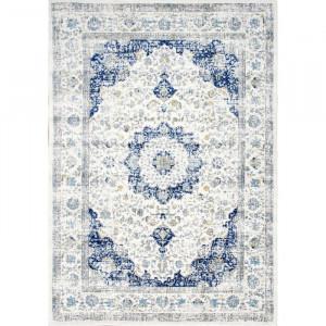 Covor Bonifant, polipropilena/iuta, albastru/alb, 152 x 226 cm