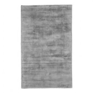 Covor din vascoza tesut manual Jane, 90 x 150 cm, gri