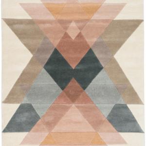 Covor Freya, lana, multicolor, 170 x 240 cm