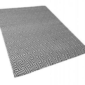 Covor IMIRCIK, polietilena, alb/negru, 160 x 230 cm