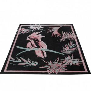 Covor Kakadu by GMK Home & Living 60 x 90 cm, negru