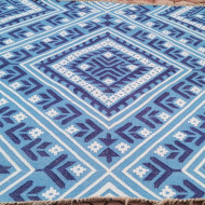 Covor Kayla Kelim, albastru, 120 x 180 cm