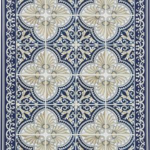 Covor Luis, albastru/bej, 65 x 85 cm