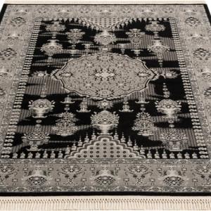 Covor Nino by DELAVITA, negru/gri, 60 x 90 cm