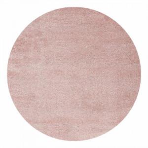 Covor rotund Boonarga II - fibre textile - rosu