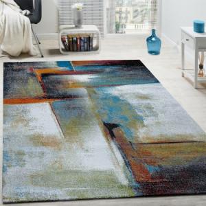 Covor Salgado, polipropilena, gri/albastru, 160 x 230 cm