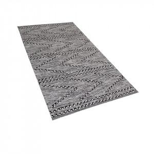 Covor Termal, bumbac, alb/negru, 80 x 150 cm