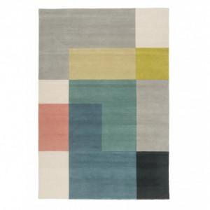 Covor Tetris, lana, multicolor, 200 x 300 cm