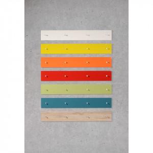 Cuier Colorado MDF/metal, alb lucios, 106 x 15 x 5 cm