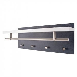 Cuier Plitka MDF/metal, decor granit/alb, 75 x 30 x 26 cm
