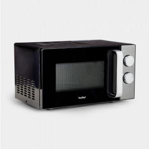 Cuptor cu microunde VonShef 20L, 800 W, negru/argintiu, 38 x 45 x 26 cm